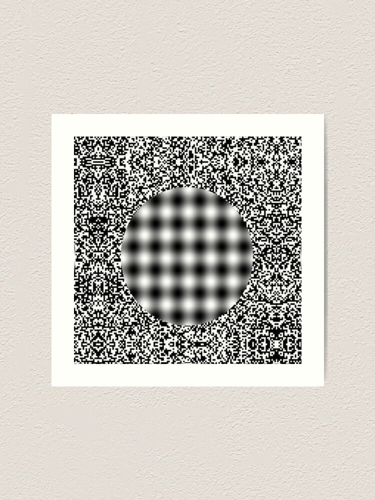 Alternate view of Optical illusion in Physics Art Print