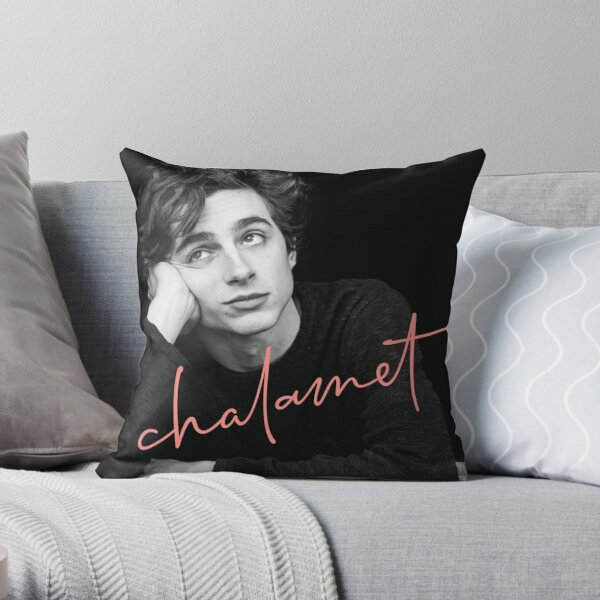 Chalamet, Awesome Merch of Timothee Chalamet Throw Pillow