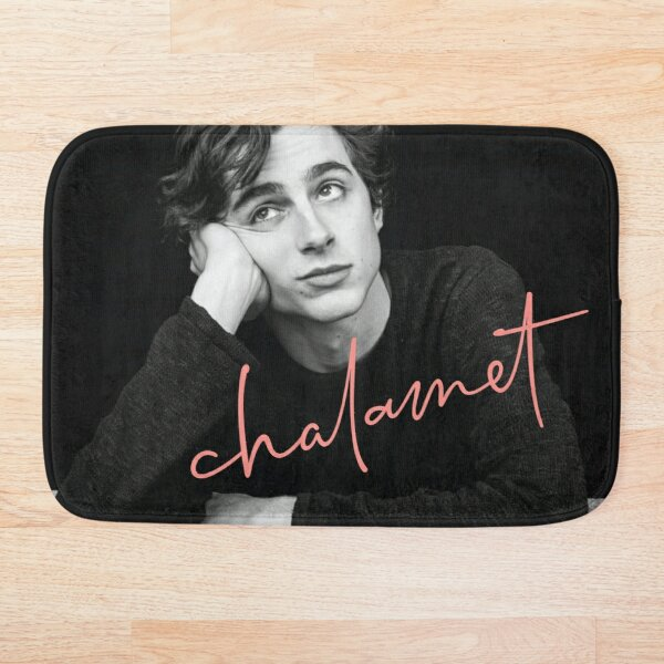 Chalamet, Awesome Merch of Timothee Chalamet Bath Mat