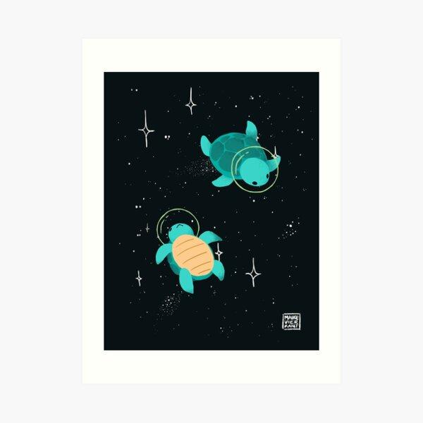 Space Turtles Art Print
