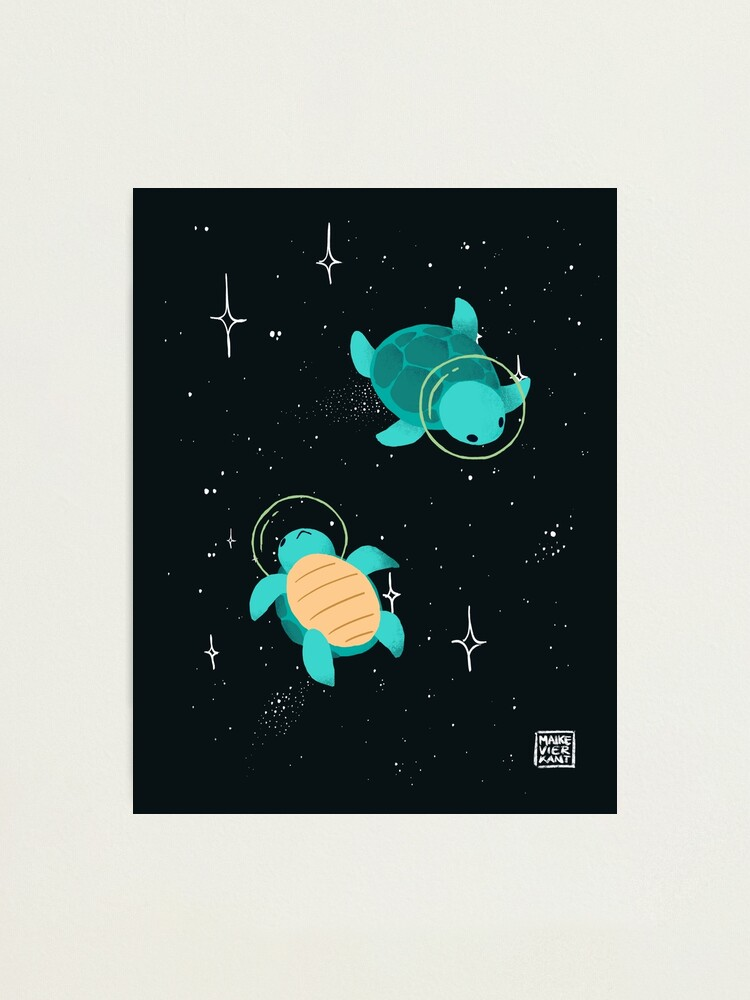 Alternate view of Space Turtles Photographic Print