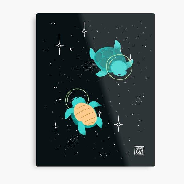 Space Turtles Metal Print