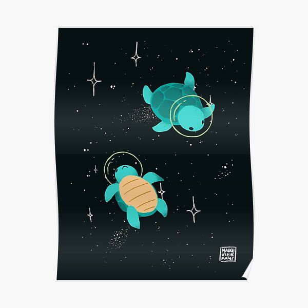 Tortues spatiales / tortues spatiales Poster