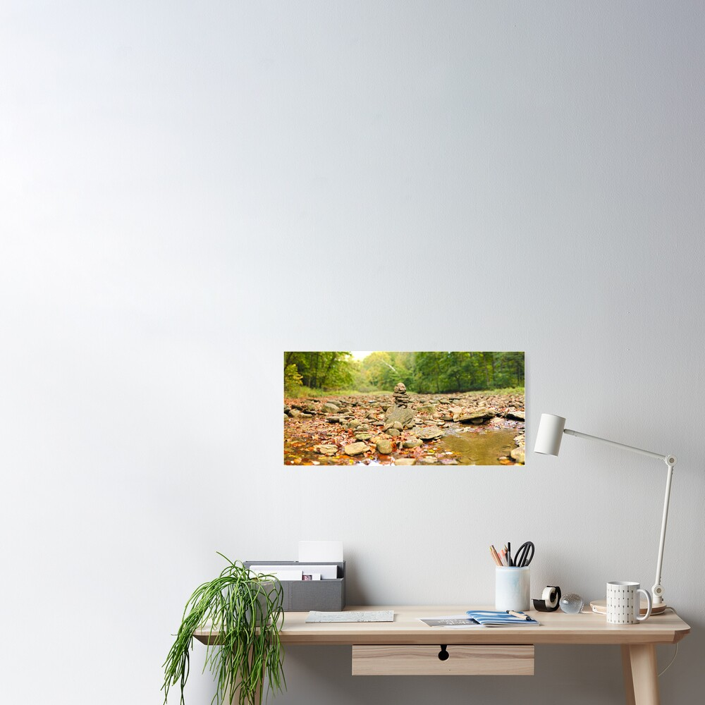 Stacked Rocks in Sugar Creek Poster