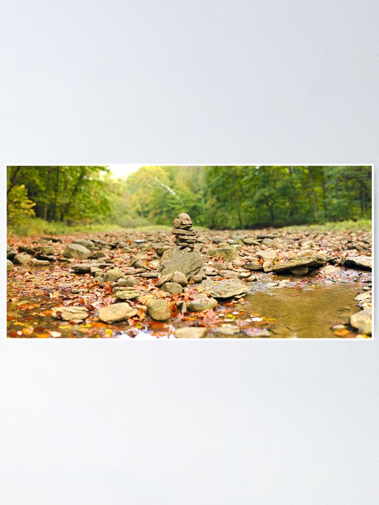 Alternate view of Stacked Rocks in Sugar Creek Poster