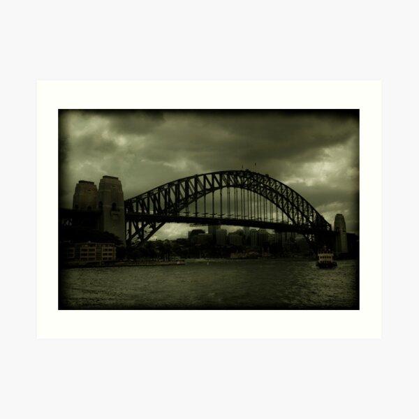 Sydney Harbour Bridge and Ferry Art Print