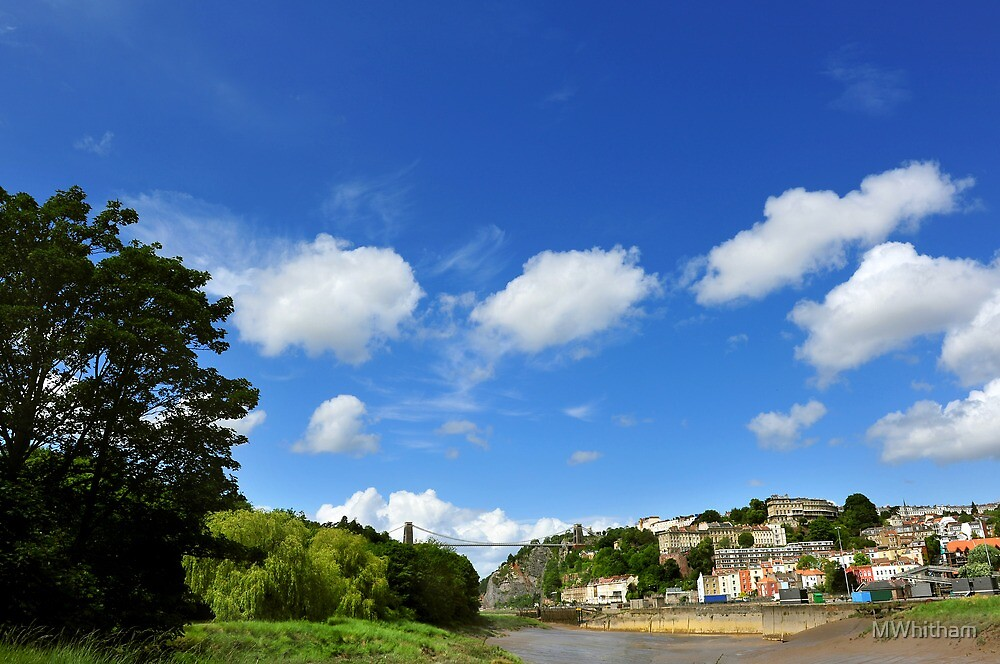 Blue skies over Clifton Suspension Bridge by MWhitham