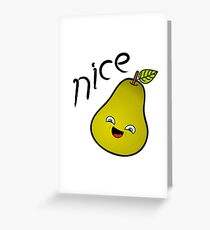 Nice Pear Greeting Card
