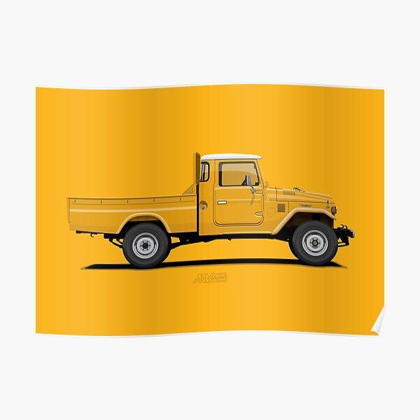 Land Cruiser FJ45 Pick Up Yellow Poster
