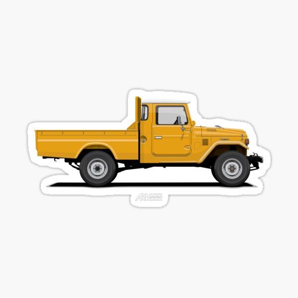 Land Cruiser FJ45 Pick Up Yellow Sticker