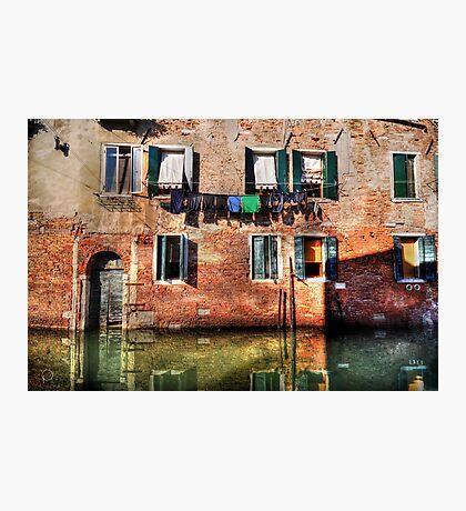 Venice washing #1 Photographic Print