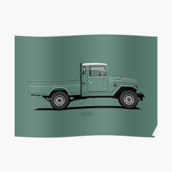 Land Cruiser FJ45 Pick Up Green Poster