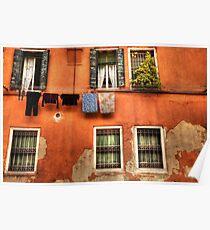 Venice washing #2 Poster