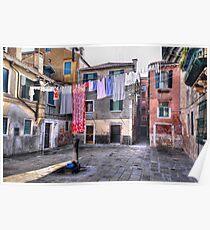 Venice washing #4 Poster