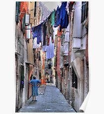 Venice washing #6 Poster