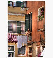 Venice washing #8 Poster