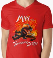 Man of a Thousand STDs Men's V-Neck T-Shirt