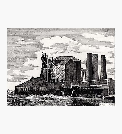 186 - NEW HARTLEY COLLIERY - DAVE EDWARDS - INK - 1991 Photographic Print