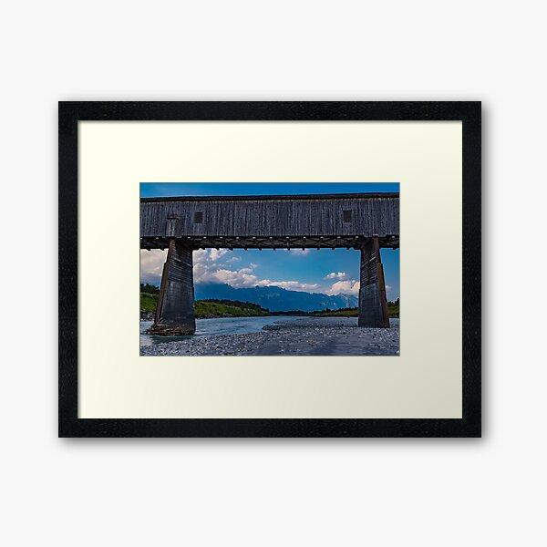 The Alte Rheinbrücke across the river Rhine  Framed Art Print