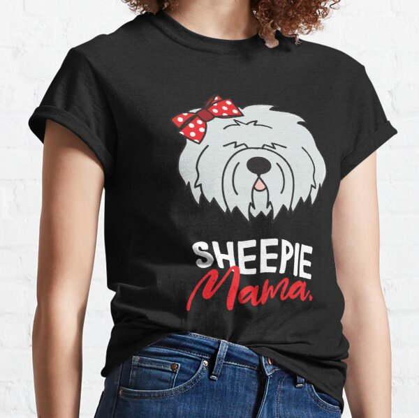 Old English Sheepdog Mom Fur Life Shirt Clothing Tee Shirt