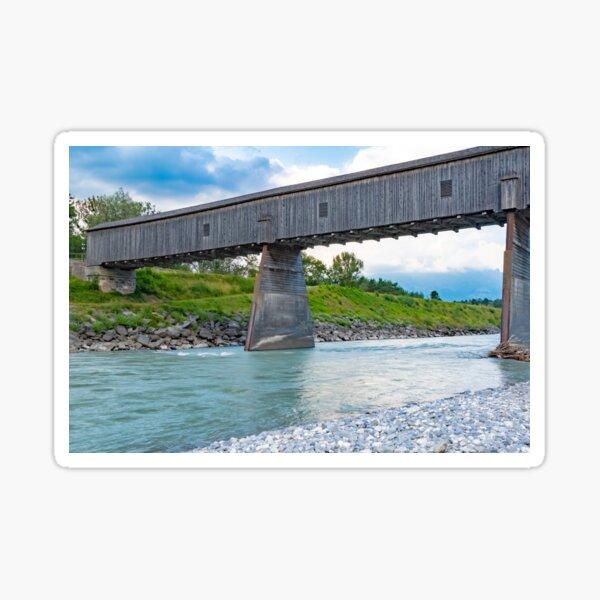 The Alte Rheinbrücke across the river Rhine  Sticker