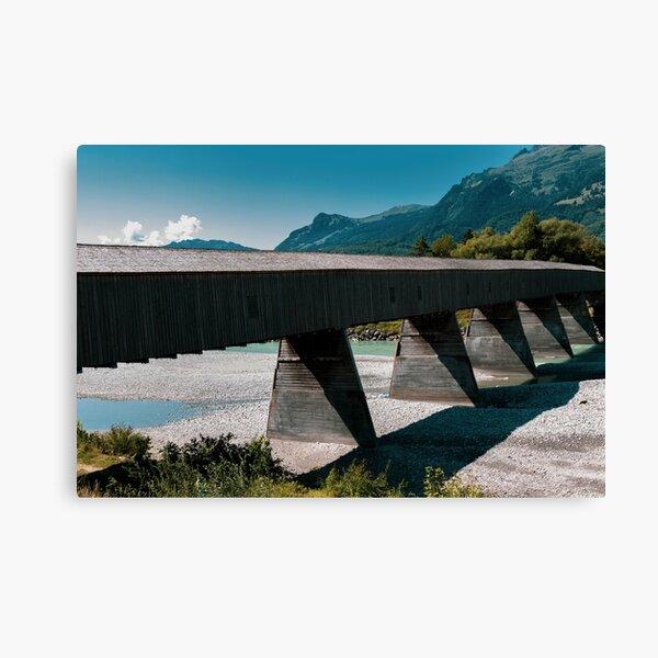 The Alte Rheinbrücke across the river Rhine  Canvas Print