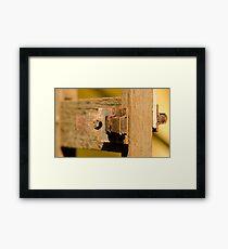 Old Door Lock! Framed Print