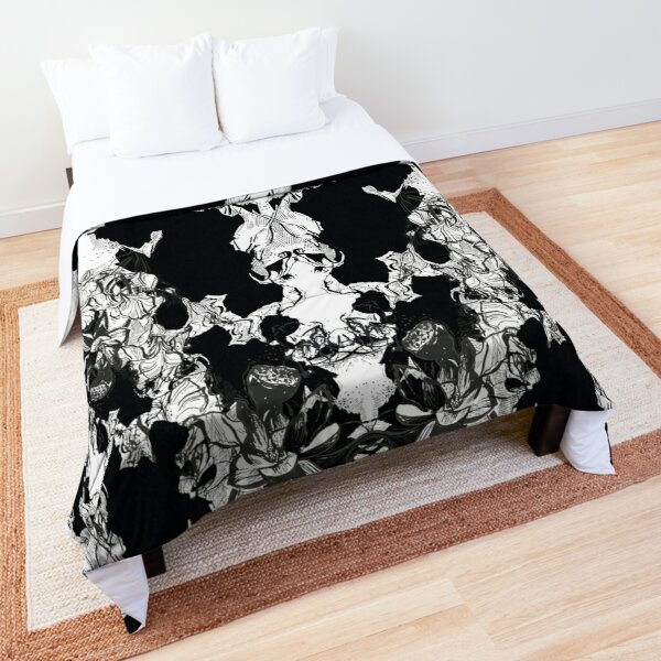ABSTRACT RORSHACH BLACK & WHITE pattern Comforter