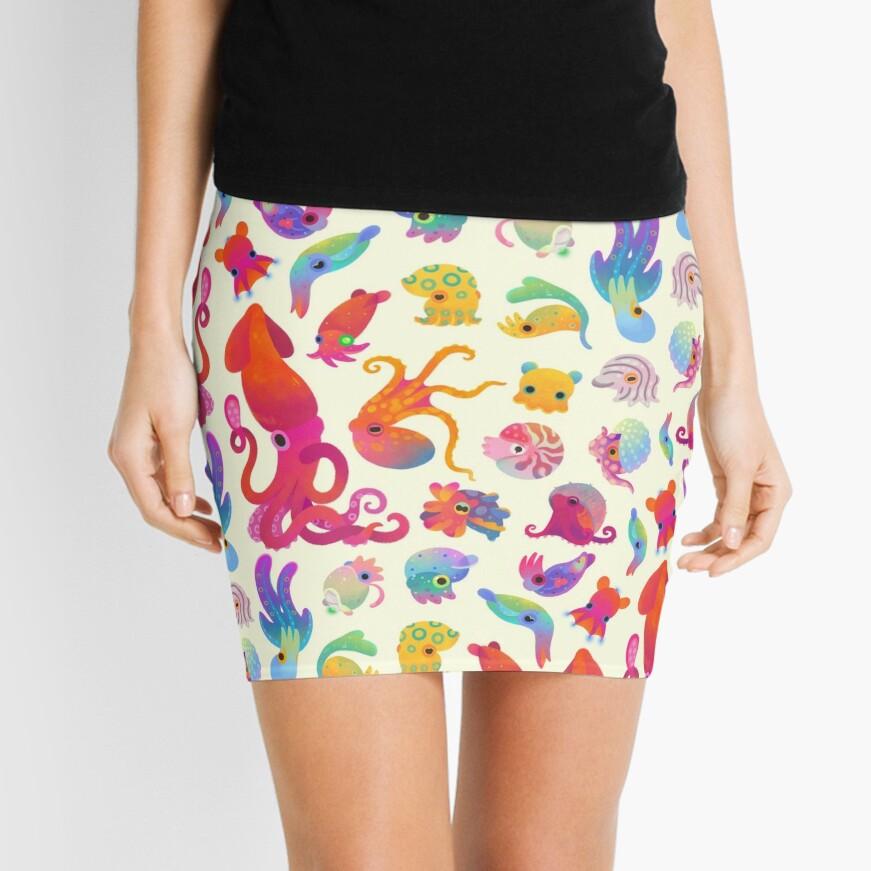 Cephalopod - pastel Mini Skirt
