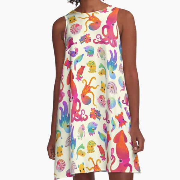 Cephalopod - pastel A-Line Dress