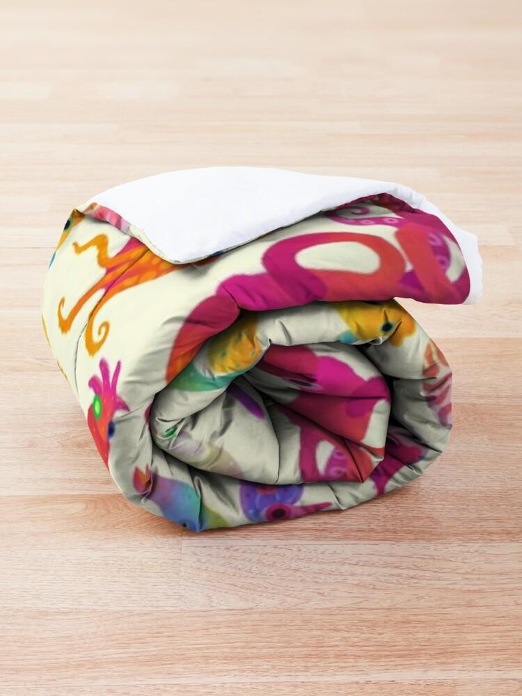 Alternate view of Cephalopod - pastel Comforter
