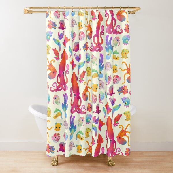Cephalopod - pastel Shower Curtain