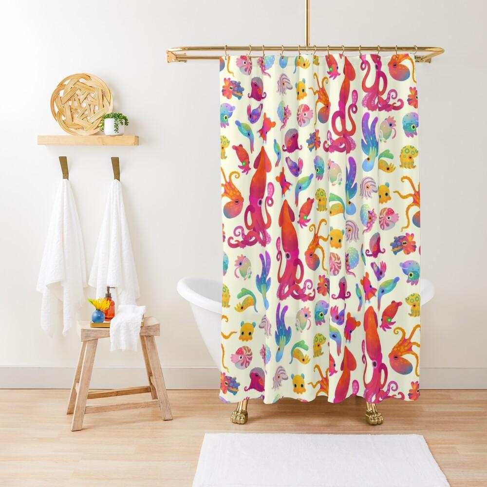 Cephalopod - pastel Shower Curtain
