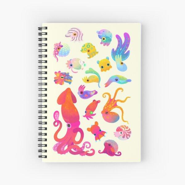 Cephalopod - pastel Spiral Notebook