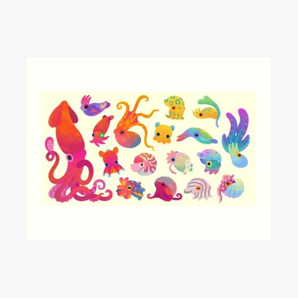 Cephalopod - pastel Art Print
