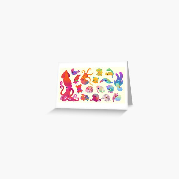 Cephalopod - pastel Greeting Card