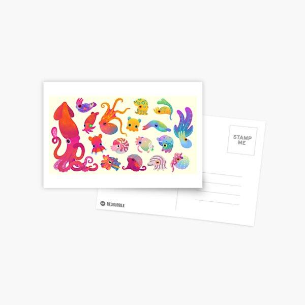 Cephalopod - pastel Postcard