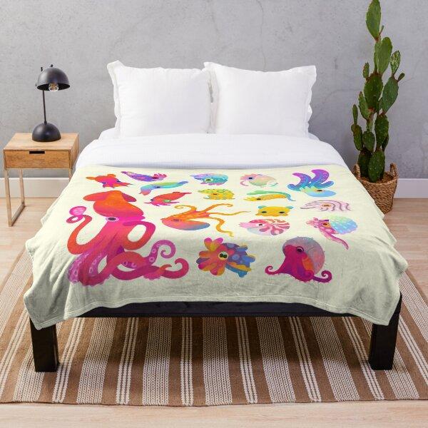 Cephalopod - pastel Throw Blanket