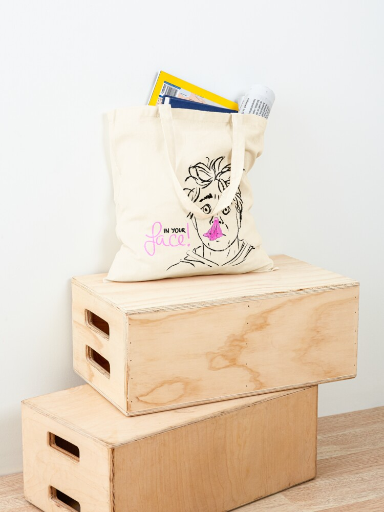 Alternate view of In your face! bubble gum Tote Bag