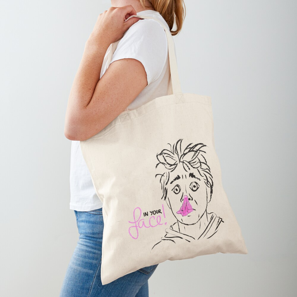 In your face! bubble gum Tote Bag