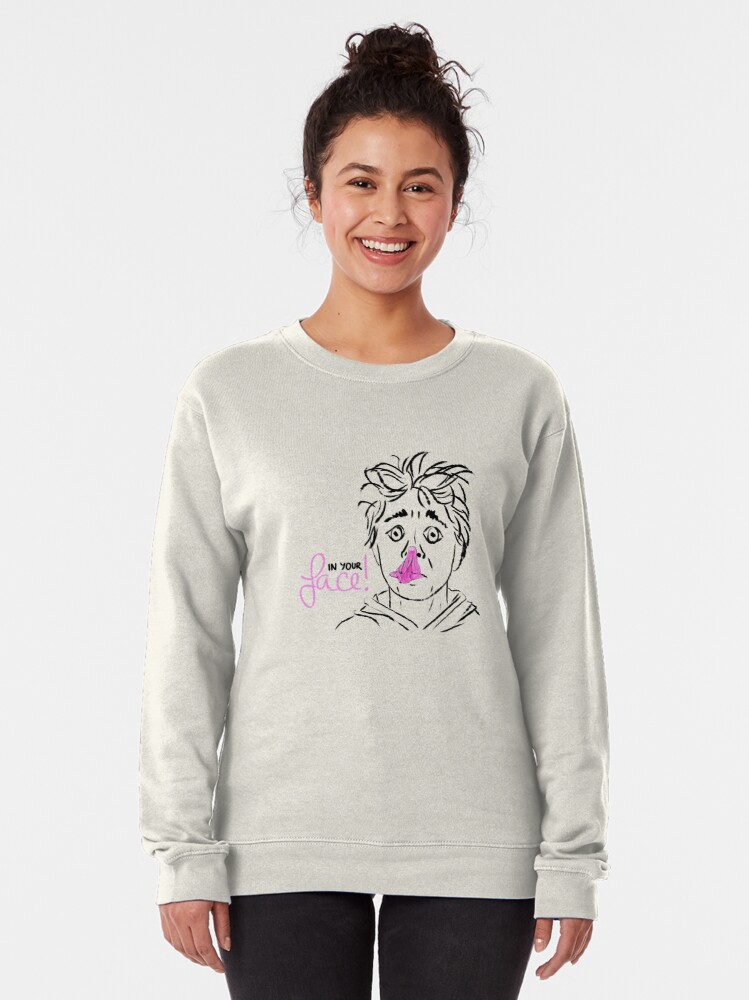 Alternate view of In your face! bubble gum Pullover Sweatshirt