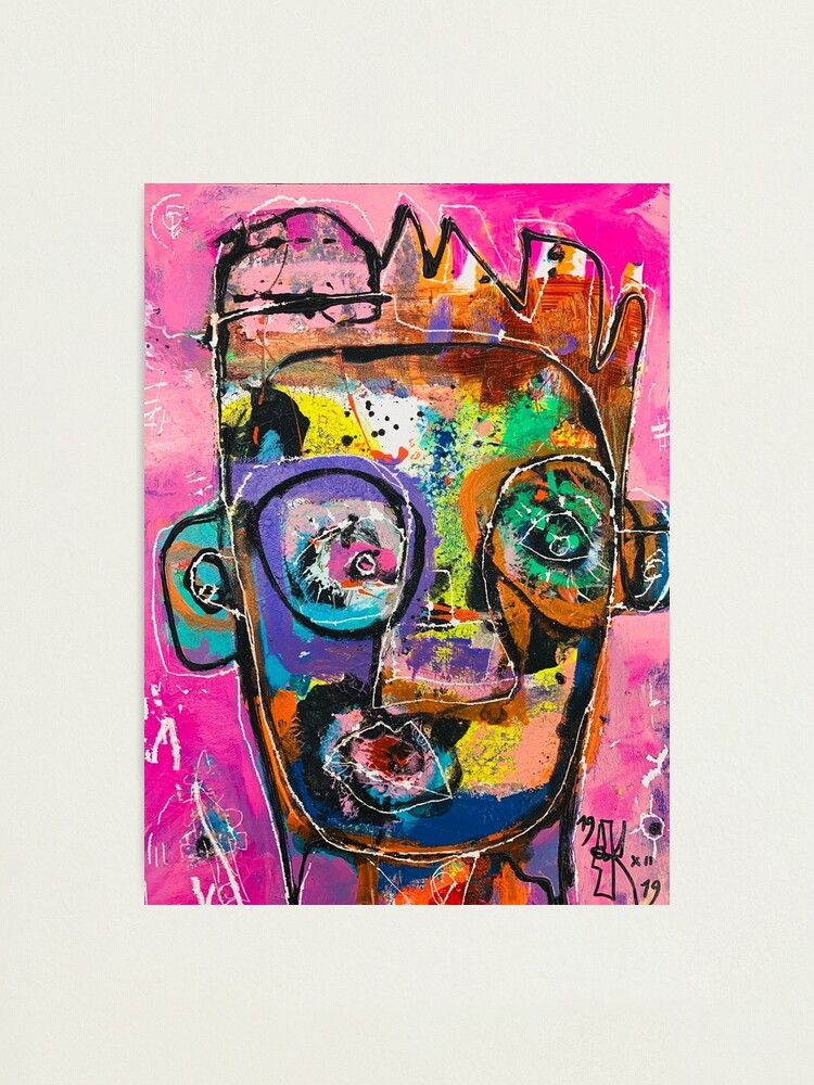 Alternate view of Neoexpressionism, art brut, spontaneous art, black and Colors, free figuration Photographic Print