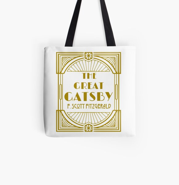 F Scott Fitzgerald The Great Gatsby All Over Print Tote Bag
