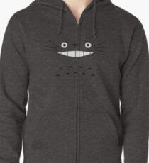 Totoro Face Zipped Hoodie