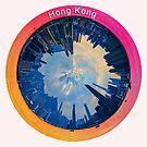 Hong Kong Circular Cityscape - Daylight Circular Skyline of Hong Kong from Victoria Harbour by Warren Paul Harris