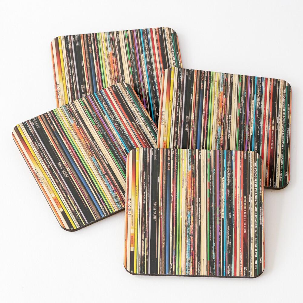 Classic Alternative Rock Records Coasters (Set of 4)