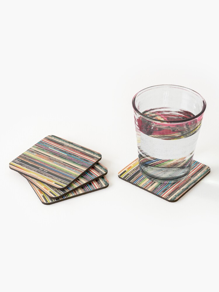 Alternate view of Classic Alternative Rock Records Coasters (Set of 4)