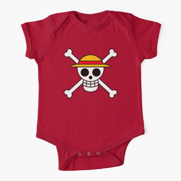 Straw Hat Pirates Jolly Roger Short Sleeve Baby One-Piece