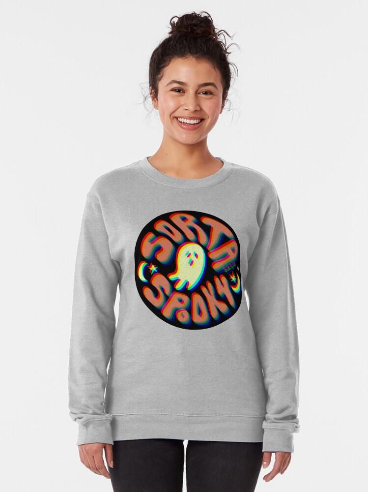 Alternate view of Sorta Spooky © 3D Pullover Sweatshirt