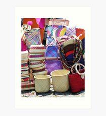 Baskets galore! Art Print